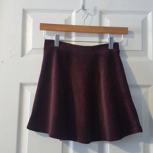 S Forever 21 corduroy purple skater mini skirt